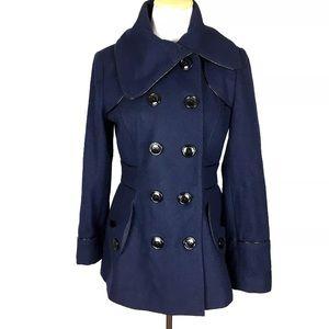 Miss Sixty Navy Blue Wool Pea Coat
